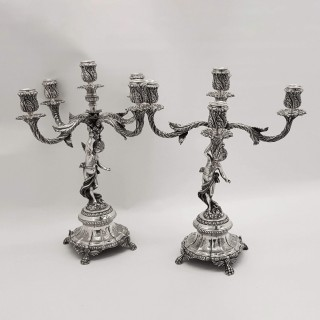Antique Silver Candelabras
