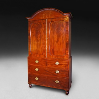 Regency Period Mahogany Gentleman's Press attributed to Gillows of Lancaster
