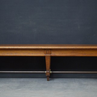 Substantial Victorian Solid Oak Bench