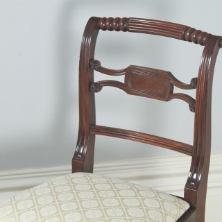 Antique English Set of Four Regency Georgian Mahogany Dining / Side Chairs (Circa 1820)