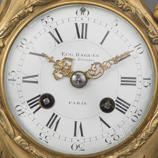 A Fine Louis XV Style Gilt and Patinated Bronze Figural Clock Garniture By Maison Baguès