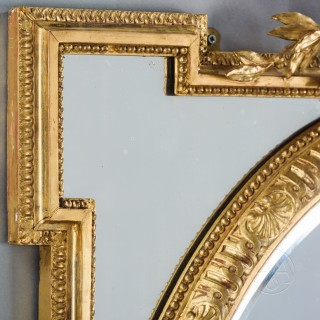 A Fine Pair of Louis XVI Style Carved Marginal Frame Mirrors