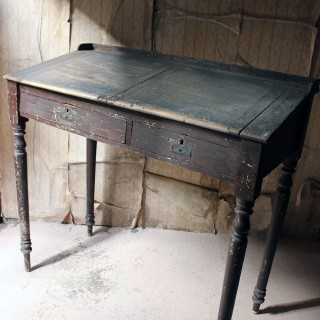 An Interesting 19thC Painted Pine & Graffitied Clerk's Desk c.1870