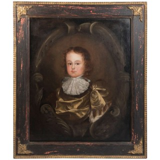 Oil On Canvas Of Young Boy, 17th Century