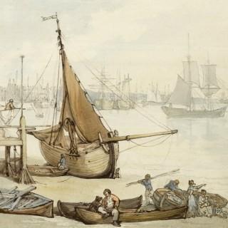 Thomas Rowlandson, RA (1757-1827) Low Tide Greenwich