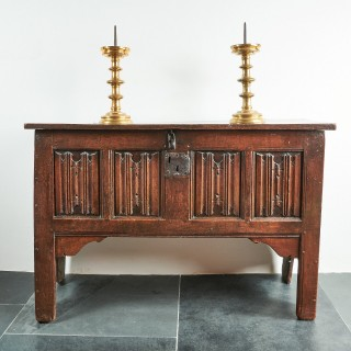 Henry VIII linenfold chest