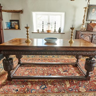 Elizabeth I oak draw leaf table