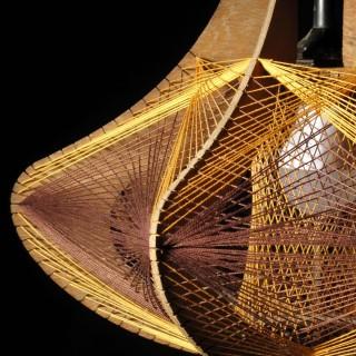 Design Art Hanging Light as a Sculpture, Style of Naum Gabo.