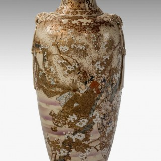 19th Century Satsuma Ovoid Pottery Vase