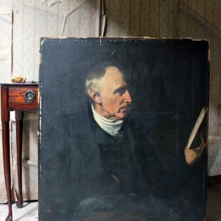 A Mid-19thC English School Oil on Canvas Portrait of a Gentleman c.1860; Ex Dame Elisabeth Frink
