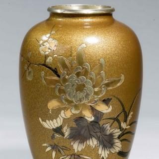 Pair of Japanese 19th Century Bronze Vases