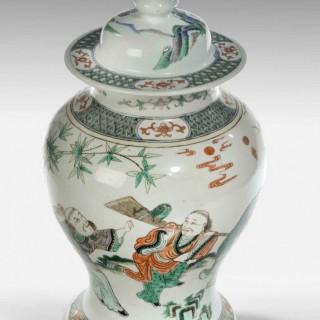 A 19th Century Famiille Verte Porcelain Vase
