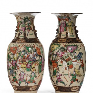 Pair of Late 19th Century Crackleware Vases
