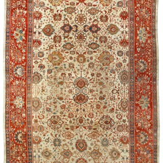 Rare Ivory Antique Ziegler carpet