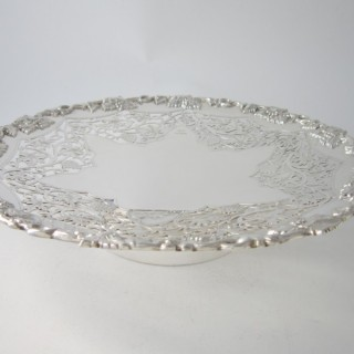 Antique George VI Sterling silver grape dish