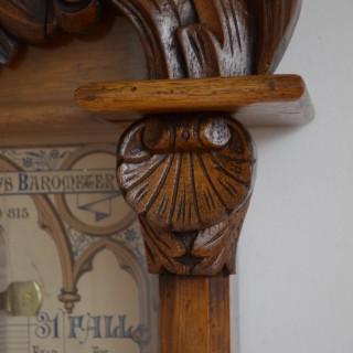 Victorian Oak Admiral Fitzroy Barometer