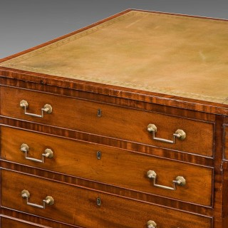 Chippendale Period Mahogany Library Desk