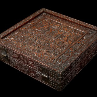 Rare Sri-Lankan/Portuguese Rosewood Games Box, Late 16th-Early 17th Century