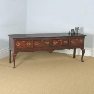 Georgian Oak Four Drawer Dresser Base