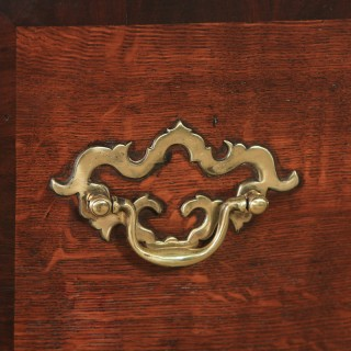 Antique English 18th Century Georgian Oak Four Drawer Dresser Base Sideboard (Circa 1780)