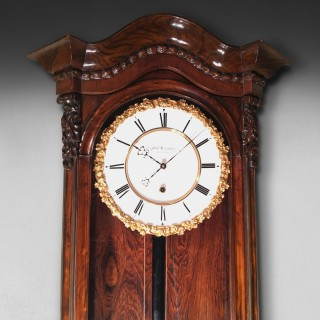 19th. Century Rosewood Viennese Regulator Clock -  Adolf Hradetzkn