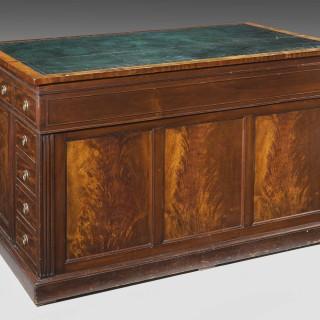 19th Century Centre Standing Mahogany Desk