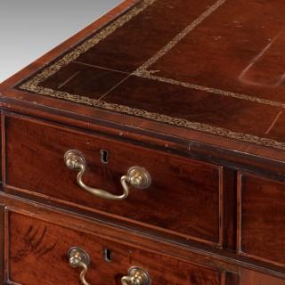 George III Period Mahogany Library Desk