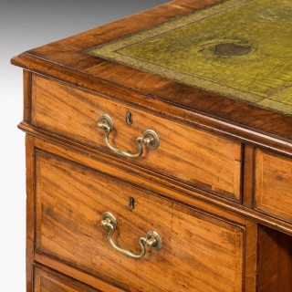 Chippendale Period Mahogany Partners Desk in Three Sections