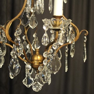 French Pair Of Birdcage Antique Chandeliers