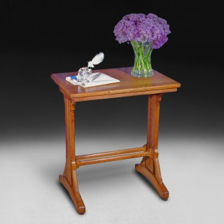 A Gothic revival oak adjustable reading stand