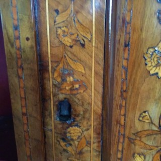18th century Dutch marquetry full-height Corner Cupboard