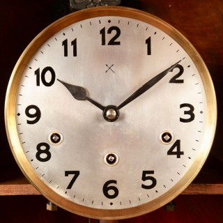 An Art Deco Westminster Carillon Walnut Wall Clock French/Germany circa 1940.