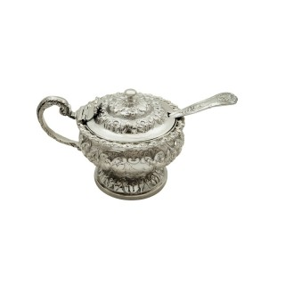 Antique Georgian Sterling Silver Mustard Pot 1826