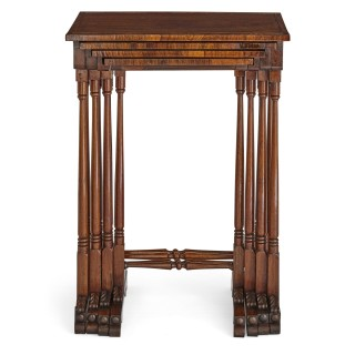 Set of antique English rosewood side tables