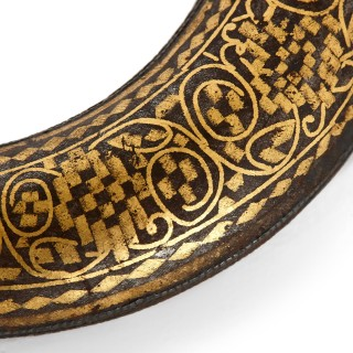 Syrian iron handle with gold inlay