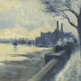 Low water by Cheyne Walk, Chelsea by Ian Houston