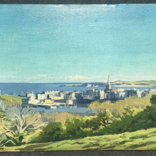 View of Tenby, 1940's by Stephen Bone NEAC