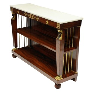 A PAIR OF EMPIRE STYLE CONSOLES BY MAISON JANSEN