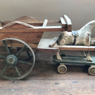 Folk Art Horse and Cart