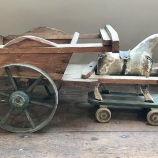 Folk Art Horse and Cart