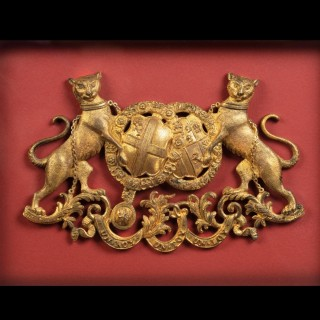 A Pair of Marquess of Clanricarde de Burgh-Canning Carriage Badges