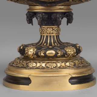 A Large and Finely Cast Gilt and Patinated Bronze  Neoclassical Style Vase