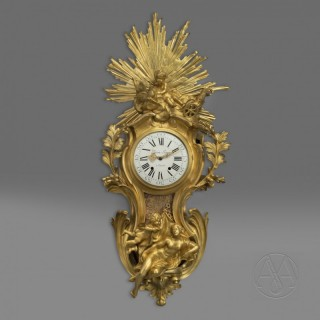 A Fine Louis XV Style Gilt-Bronze Cartel d'Applique After a Model by Jacques Caffieri
