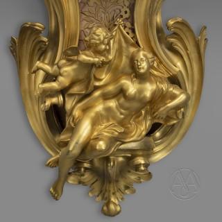 A Fine Louis XV Style Gilt-Bronze Cartel d'Applique After a Model by Jacques Caffieri