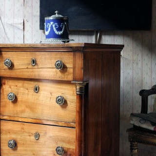 A 19thC Piedmont Fruitwood Commode c.1830-40