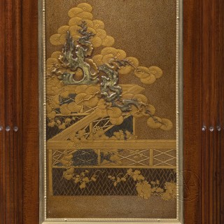 A Louis XVI Style Japanese Nashiji Lacquer Mounted Cabinet Serre-Bijoux by L'Escalier de Cristal