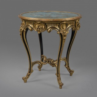 A Parcel Gilt and Cloisonné Enamel Gueridon In The Manner Of Christofle & Cie