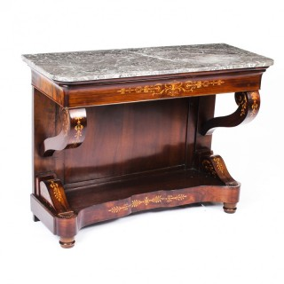 Antique Charles X Period Tigerwood Console Table c.1830 19th C