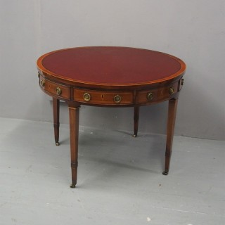 George III Inlaid Mahogany Table or Rent Table