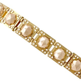 18ct Yellow Gold and 18ct Rose Gold Bracelet - Antique Circa 1830